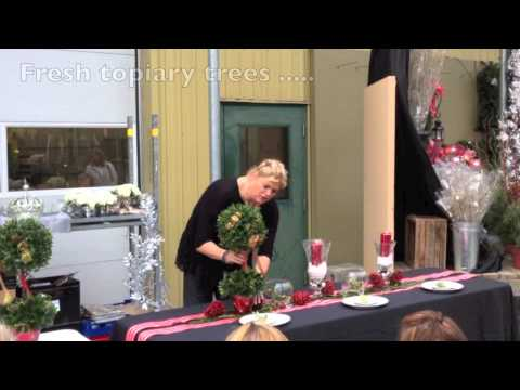 Decorating your Holiday Table from Van Belle Flowers