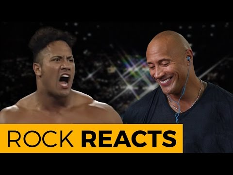 The Rock Reacts to His First WWE Match 20 YEARS OF THE
