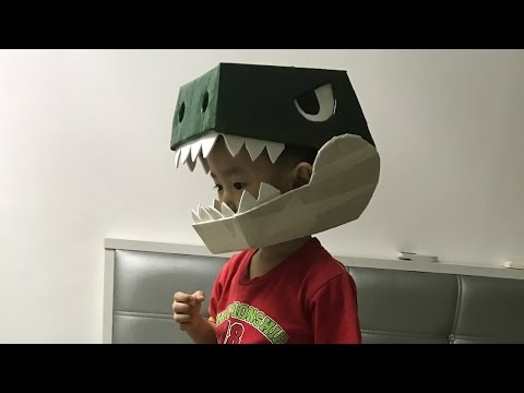 Simple Cardboard Dinosaur Helmet