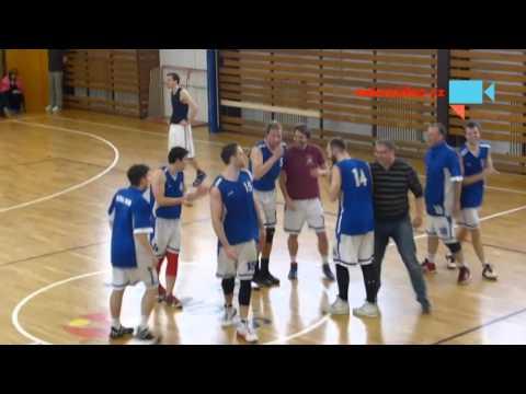 Finále krajskeho přeboru v basketbale - oslavy vítězství