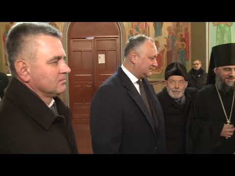 Igor Dodon a vizitat Mănăstirea Noul Neamț din Chițcani