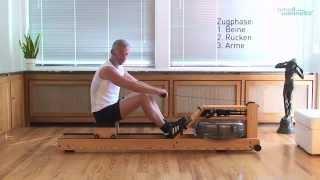 time4wellness zeigt: Der Sportwissenschaftler Dietmar Pollmann von WaterRower zeigt in einfachen Schritten die richtige...