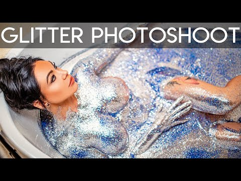 GLITTER BATH PHOTOSHOOT! (messiest shoot ever) BTS | Behind The Scenes