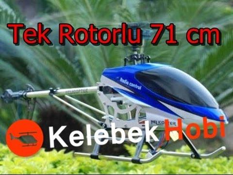 RC Helikopter   71cm Tek Rotorlu   Uzaktan Kumandalı Buyuk Model