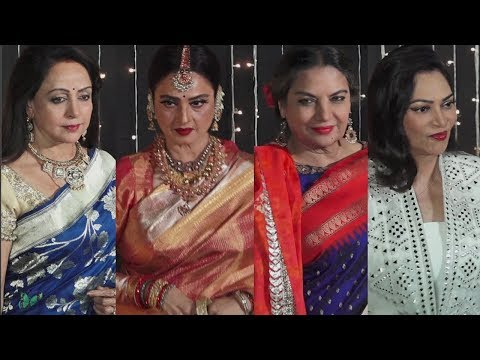 Bollywood Veteran Actress At Priyanka Chopra And Nick Jonas Wedding Reception HD