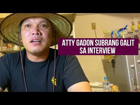 ATTY GADON SUBRANG GALIT SA INTERVIEW GRABI