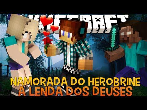 A Lenda dos Deuses Ep.13- A Namorada do Herobrine !! - Minecraft видео