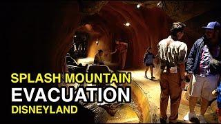 [4K] Splash Mountain: Night Ride & EVACUATION - Disneyland (Anaheim, CA)