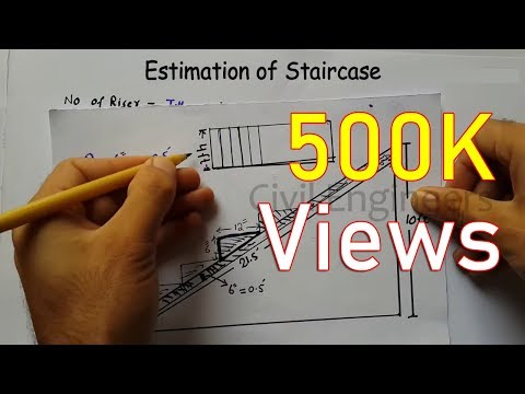 How to calculate Quantity of Staircase| Design of Staircase |