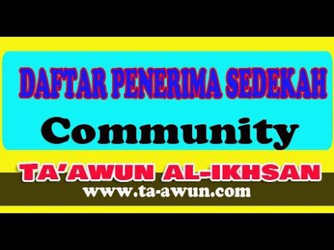 Daftar Penerima Sedekah Ta'awun Al Ikhsan