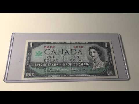 1967 $1 Note from the Bank of Canada