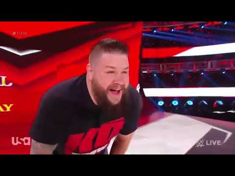 Wwe Monday Night Raw - Kevin Owens Saves Street Profit and Attacks AJ Styles - 21 October 2019