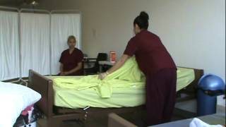 CNA Skills Making An Unoccupied Bed