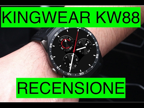 Recensione KingWear KW88 Smartwatch 3G Android ed iOS