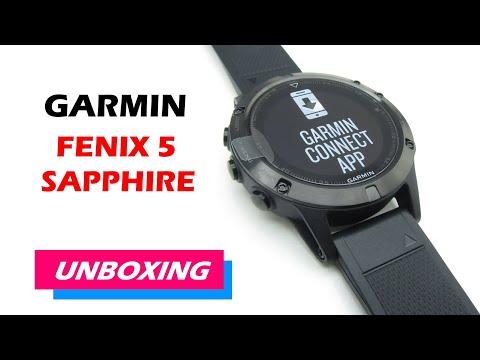 Garmin fenix 5 Sapphire Unboxing HD (010-01688-11)