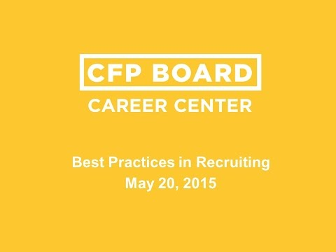 CFP Board Career Center: Best Practices In Recruiting