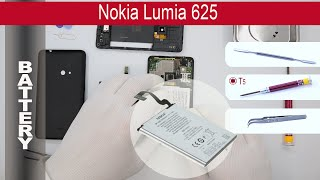How to replace battery Nokia Lumia 625 RM-941 by himself. Removal battery Nokia Lumia 625 RM-941 at home with a...