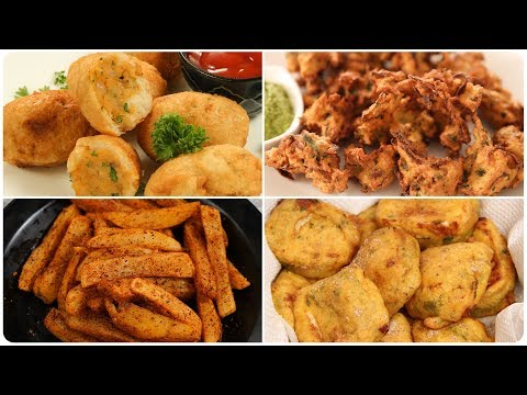 6 Easy Monsoon Snack Recipe – Quick Evening Snack Recipes – Monsoon Special Pakoras – Tea Time Snack