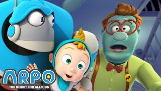 Video ARPO The Robot For All Kids - Runs For Your Life | Full Episode | Cartoon for Kids MP3, 3GP, MP4, WEBM, AVI, FLV September 2018
