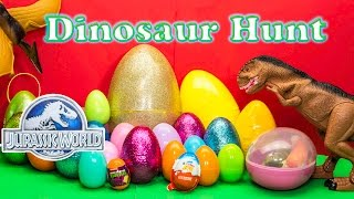 Video Opening DINOSAURS Surprise Eggs from Jurassic World with the Assistant MP3, 3GP, MP4, WEBM, AVI, FLV Maret 2018