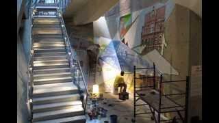 TIME-LAPSE | Murale de MU par Rafael Sottolichio | 20 ans du CCMM, 2012