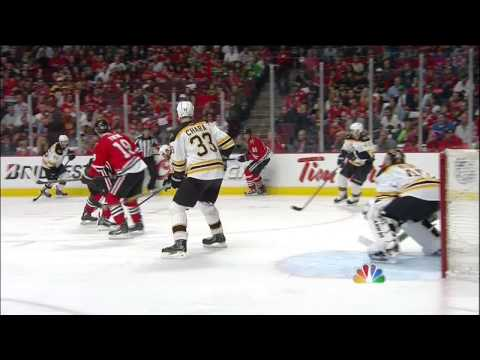 Brandon Saad wrister goal 2-1. 6/12/13 Boston Bruins vs Chicago Blackhawks NHL Hockey