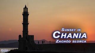 Zachód słońca w Chanii