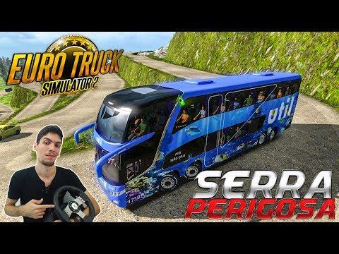 Fiz Uma Curva Difícil Serra Perigosa Ônibus Viação Util G7 - Euro Truck Simulator 2 - Volante G27!