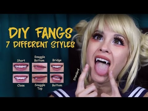 How-To: CHEAP AND EASY FANGS (7 Different Styles as Toga)