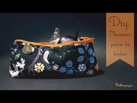 Fieltropiezos: Cómo hacer un neceser para tu bolso