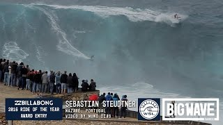 Sebastian Steudtner (Nuremberg, Germany) cracks the whip and puts on a speed run display for the crowd at Praia do Norté,...