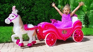 Diana Pretend Play with Princess carriage toy