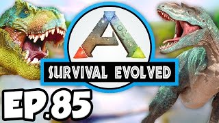 ARK: Survival Evolved Ep.85 - SPINO RAMPAGE & EPIC BA T-REX DINOSAURS!!! (Modded Dinosaurs Gameplay)