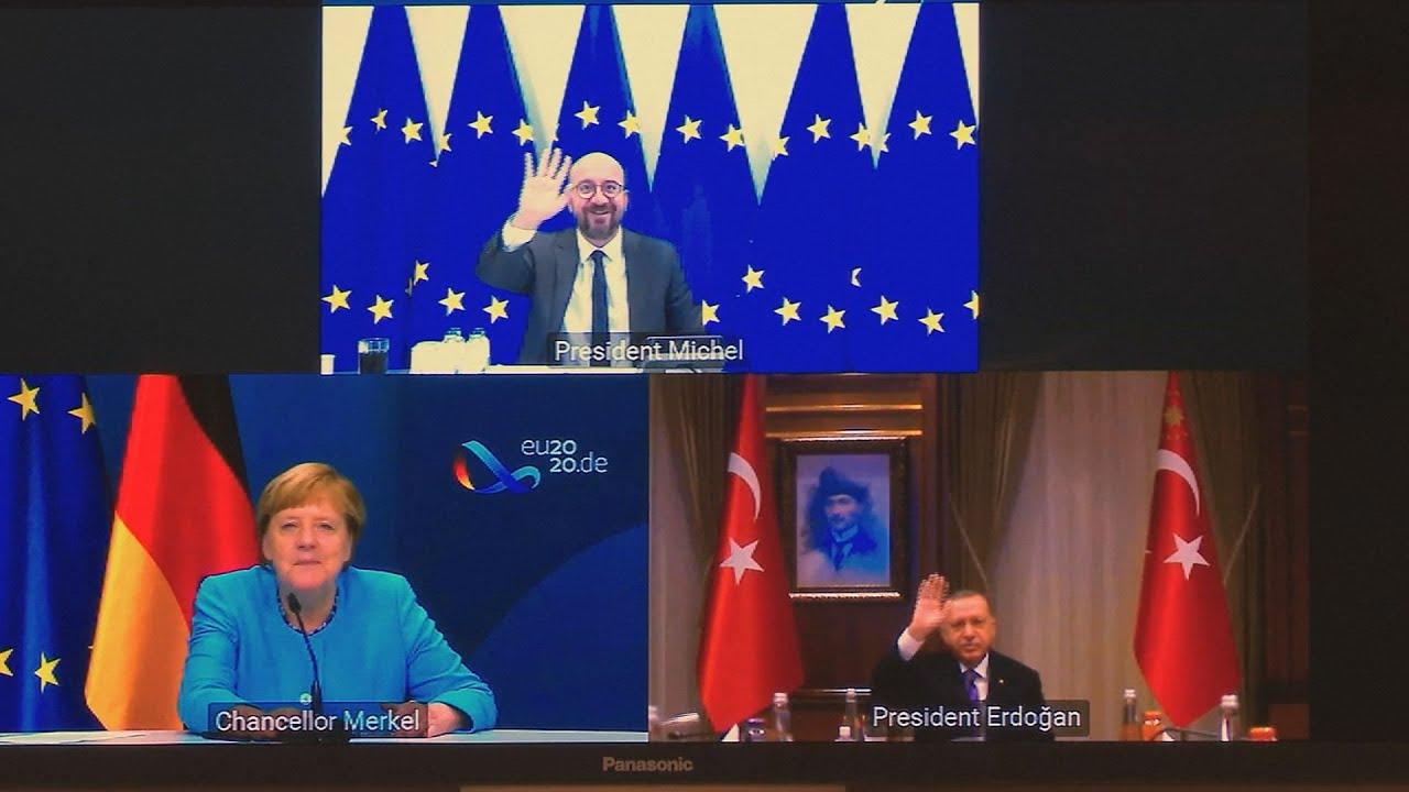 Τηλεδιάσκεψη Μισέλ-Μέρκελ-Ερντογάν στο πλαίσιο της προετοιμασίας της Συνόδου Κορυφής