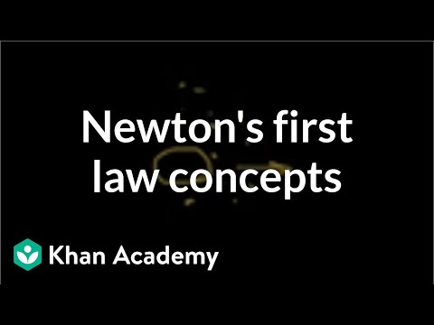 Applying Newton's first law of motion (video) | Khan Academy