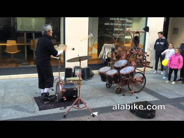 Drum Juggling Street Performer