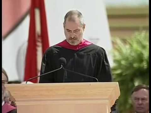 speech - Here we see Steve Jobs delivering his commencement speech to the graduates of Stanford University in 2005. In it he talks about getting fired from Apple in 1...