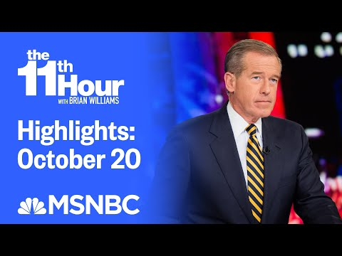 Watch The 11th Hour With Brian Williams Highlights: October 20 | MSNBC