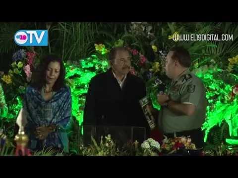 Daniel y Rosario encabezan celebración del 37 Aniversario de la Fuerza Aérea de Nicaragua
