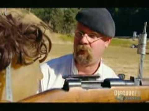 "Video. De la serie MythBusters ""Sniper Myth"""