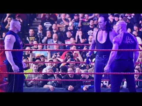 Goldberg Vs Undertaker Vs Brock Lesnar  On Raw
