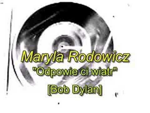 Tekst piosenki Maryla Rodowicz - Odpowie Ci wiatr po polsku