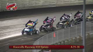 Knoxville Raceway 410 Highlights- April 21, 2018