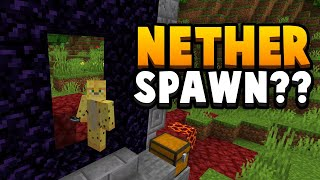 Minecraft 1.16 - Nether Portal Spawn Seed (Live In The Nether)