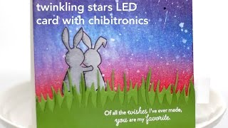 Twinkling Stars LED Card with Chibitronics