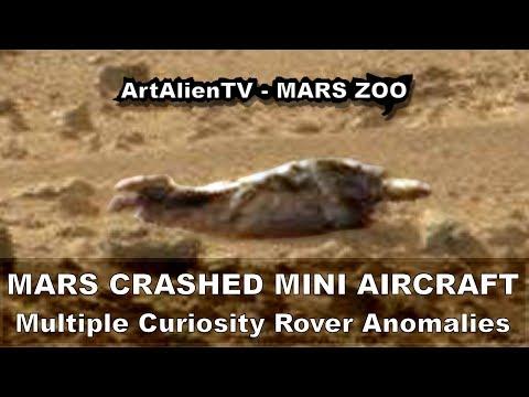 MARS – Crashed Mini Aircraft & Multiple Alien Skull Anomalies. ArtAlienTV – MARS ZOO 1080p