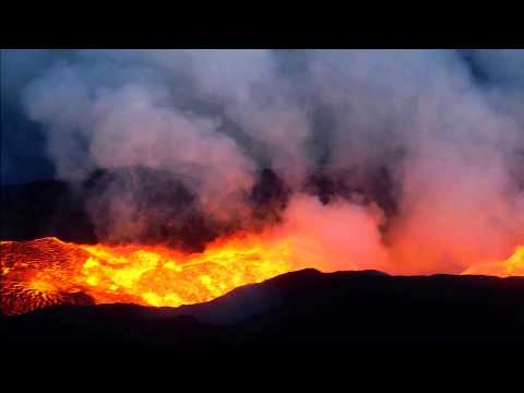 bardarbunga: in volo durante un'eruzione!