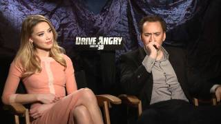Nicolas Cage And Amber Heard On 'Drive Angry 3D'