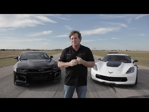 2017 ZL1 Camaro vs Z06 Corvette Roll-on Drag Race_Legjobb videók: Sportkocsi