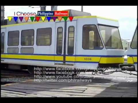 LRT - Ang pagtawid ng LRT 1g along the Pasay Depot.